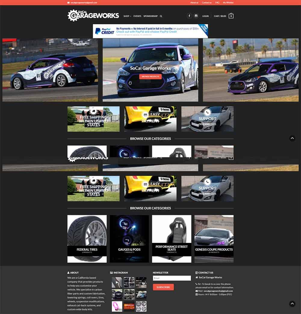 socal garage works southern florida web design in martin county fl socal garage works is also a web hosting client of ours and utilizes our monthly maintenance service for site updates and other tasks
