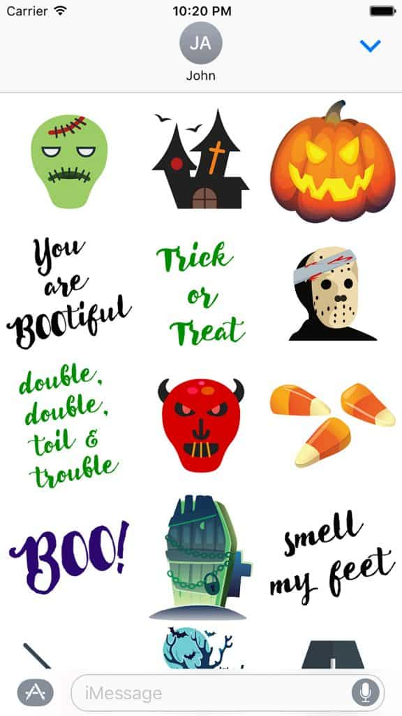 Cute Halloween Stickers Screenshot