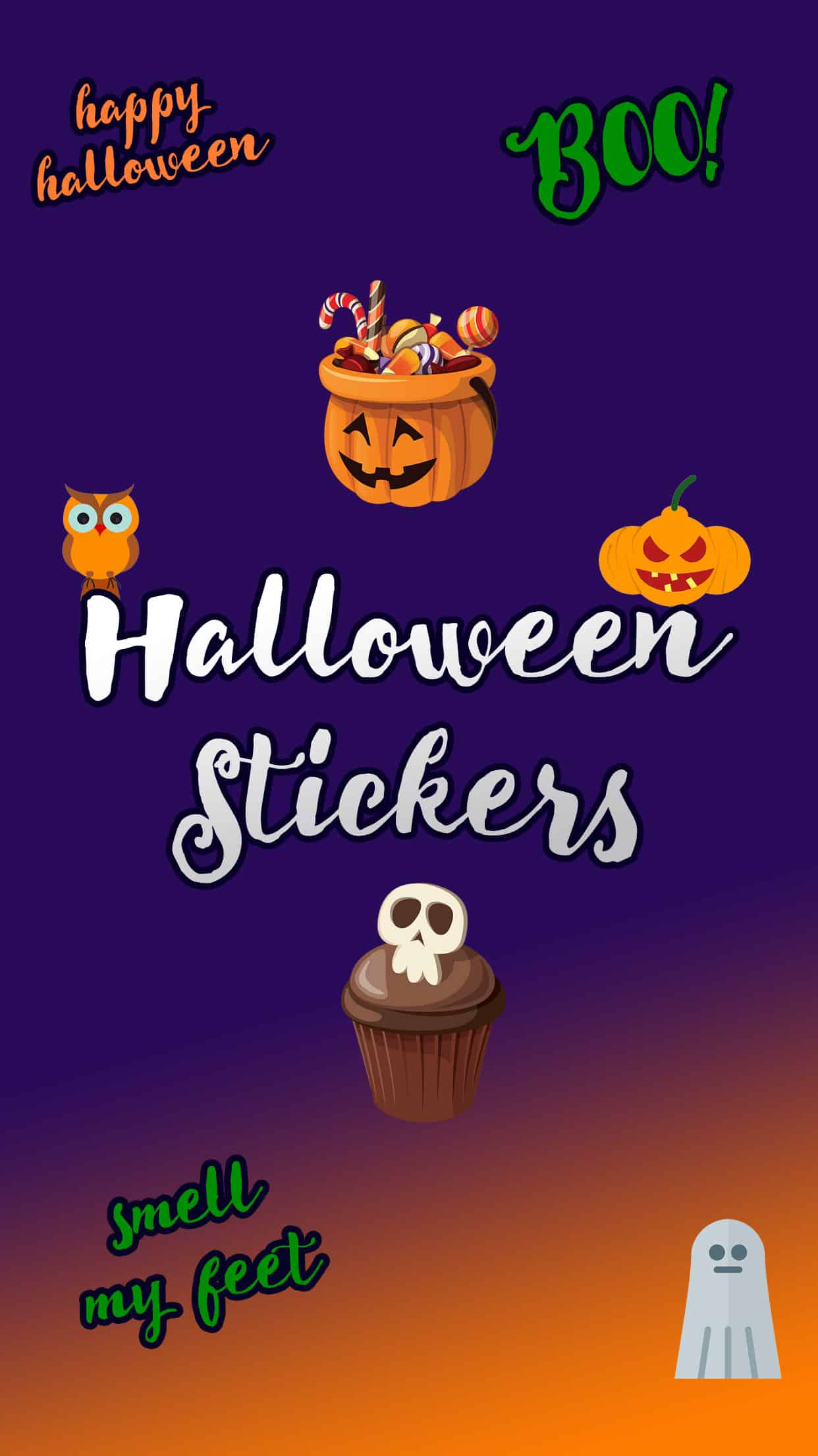Cute Halloween Stickers Splash
