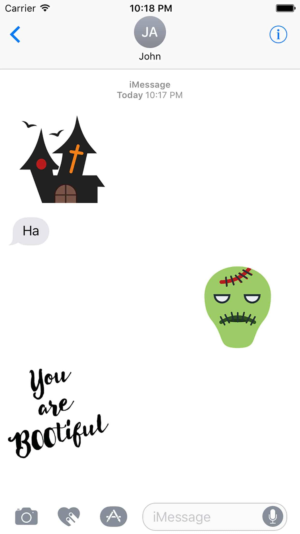 Cute Halloween Stickers Screenshot