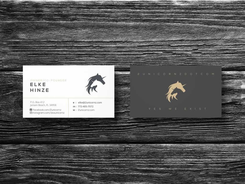 Two Unicornz Business Cards