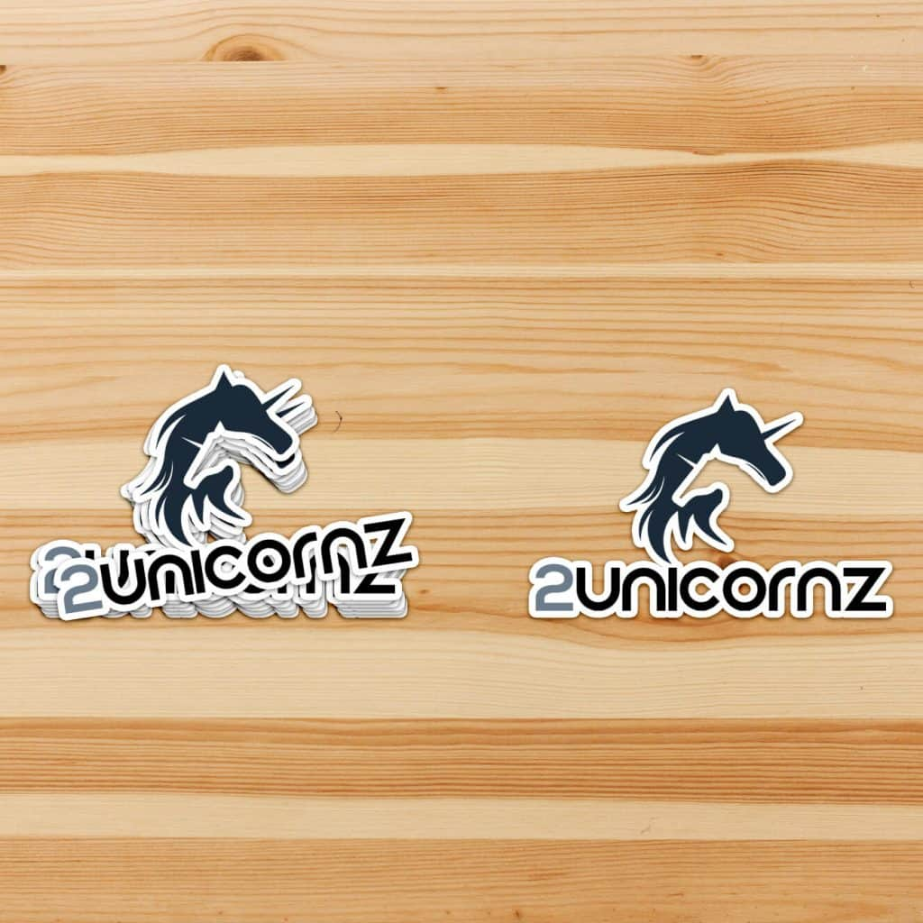 Two Unicornz Stickers