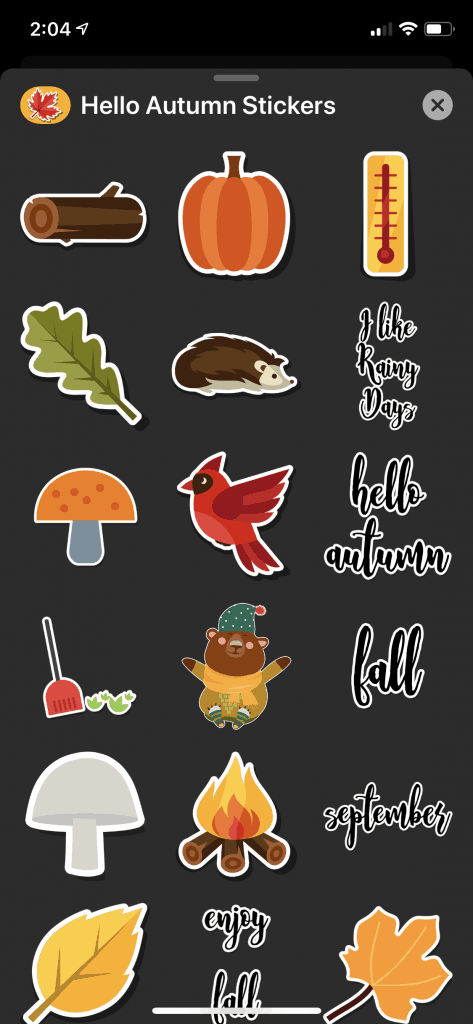 Hello Autumn Stickers Screenshot 4
