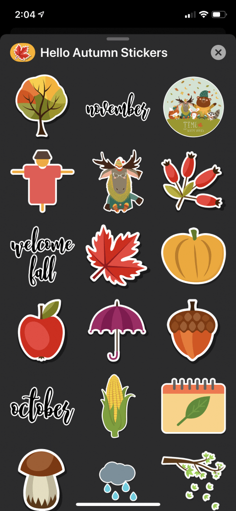 Hello Autumn Stickers Screenshot 3
