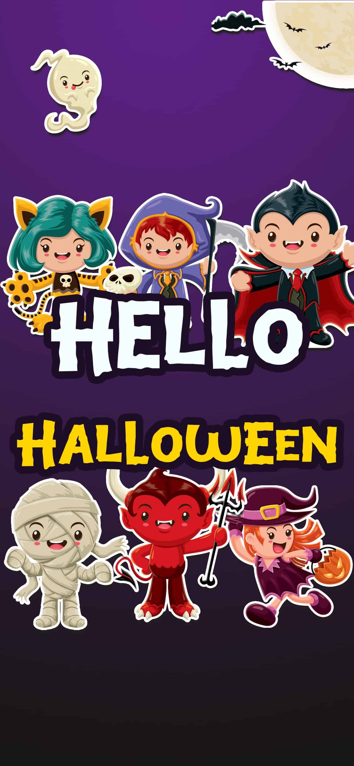 Hello Halloween Stickers Splash